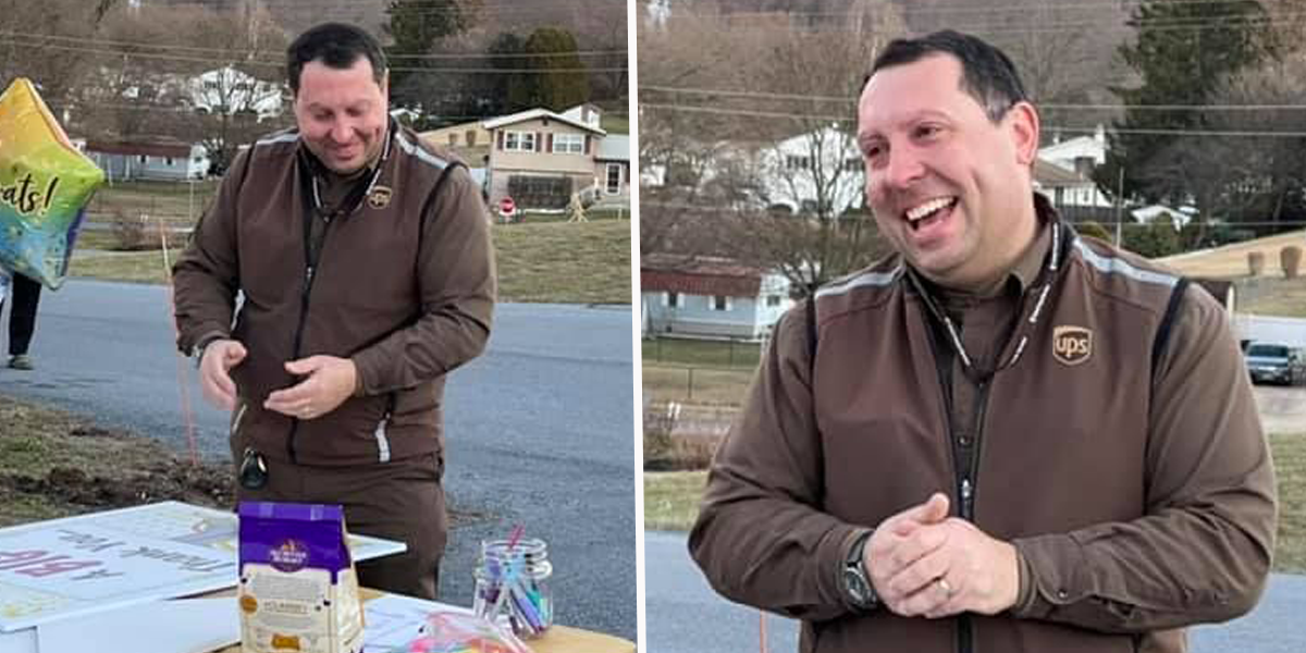 Tiny Town Throws Party to Thank Its Only UPS Driver For Working Non-Stop Through Pandemic