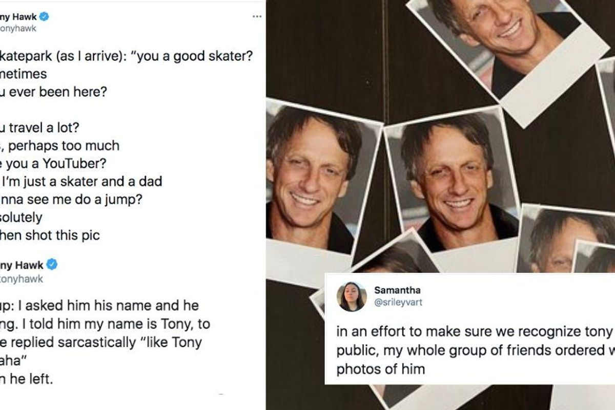 People not recognizing Tony Hawk as Tony Hawk is the most hilarious and wholesome thing ever