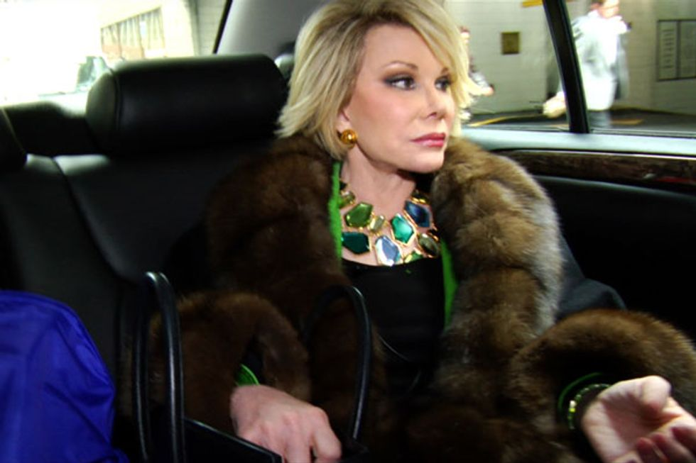 """""""It Would Be Nice to be Remembered as an Icon:"""" Our 2010 Interview with Joan Rivers"""