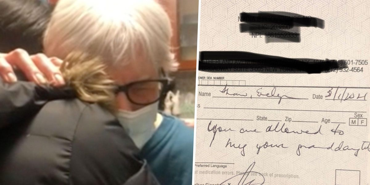 Doctor Writes Prescription for Grandma Saying She Can Hug Her Granddaughter After Full Vaccine