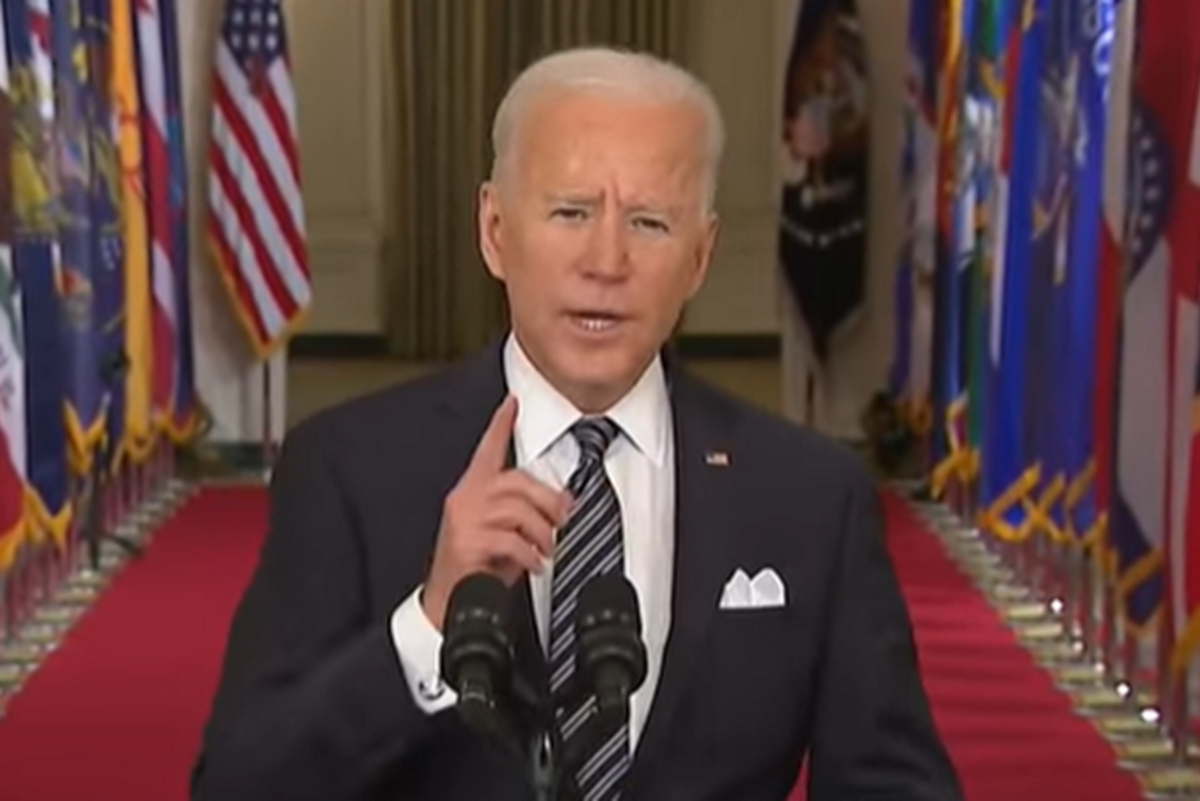 Present Biden delivered the speech Americans have been waiting for