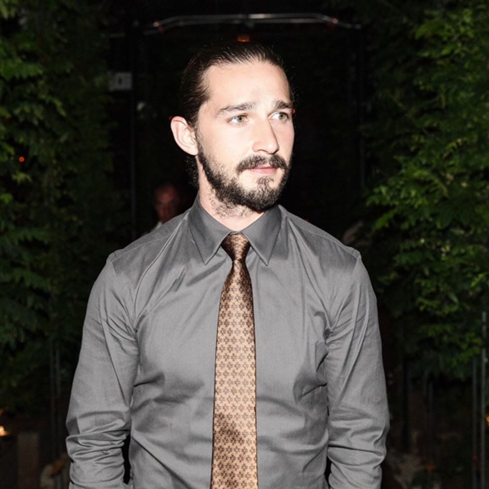 Shia LaBeouf Cut His Face with a Knife for Art