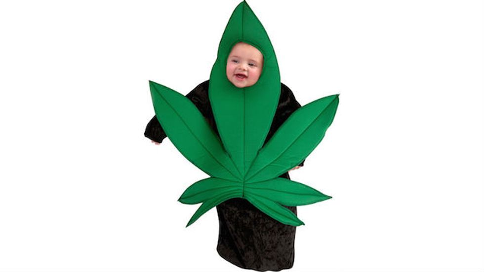 Why Not Dress Up Your Cool, Edgy Baby As A Pot Leaf For Halloween