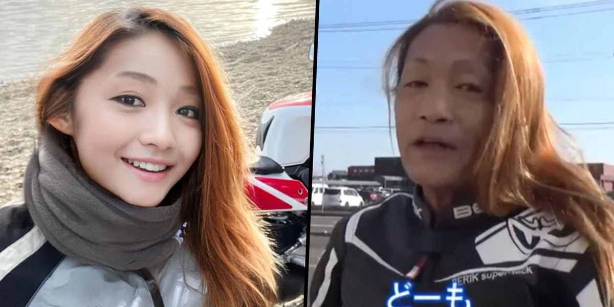 Young Female Japanese Motorbiker Revealed as 50-Year-Old Man