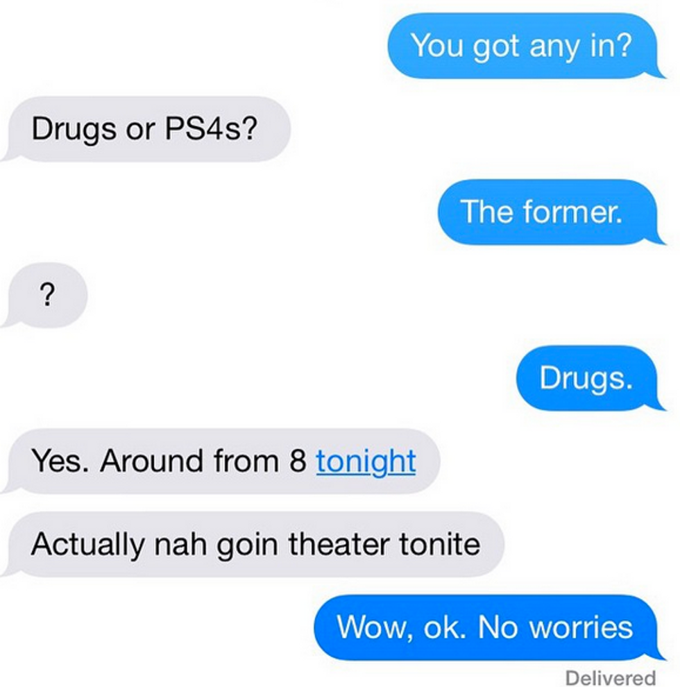 A New Instagram Documents Your Best Drug Dealer Texts