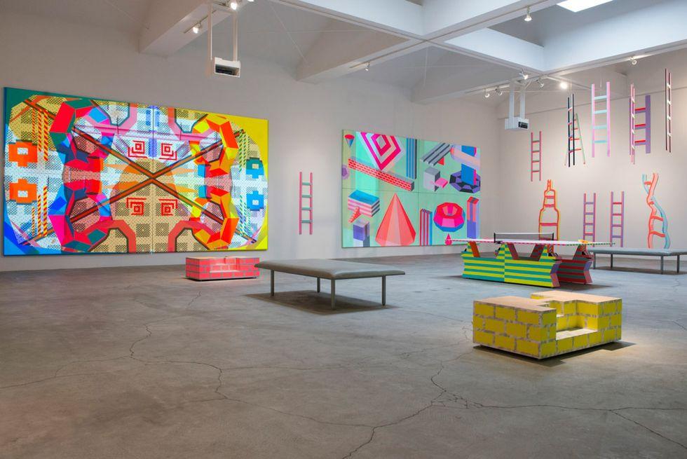 Artist Ben Jones On His Recent Show, Digital Utopias and the Power of Projectors