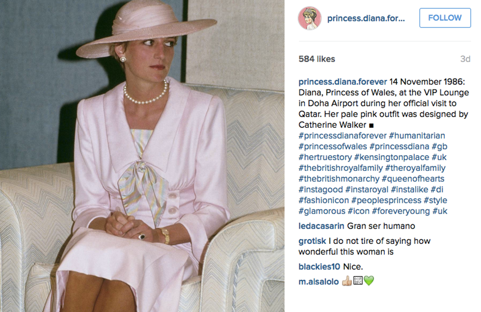 Your New Insta-Obsession: @princess.diana.forever