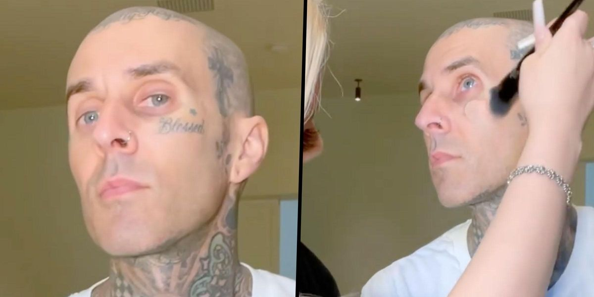 Travis Barker's Daughter Gives Him a Makeover to See How He'd Look Without His Face Tattoos