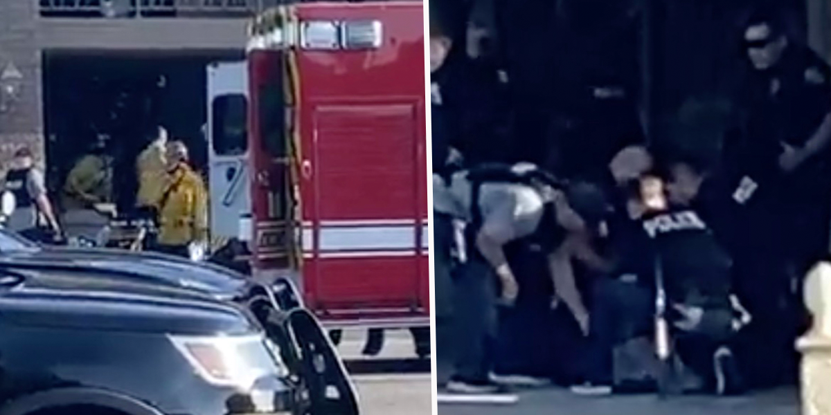 Images Show Moment Cops Bring Out Alleged OC Shooting Suspect and Put Him in Ambulance