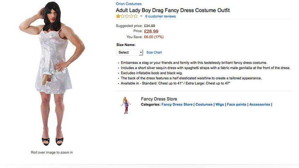 "Amazon's Under Fire For Their ""Lady Boy"" Halloween Costume"