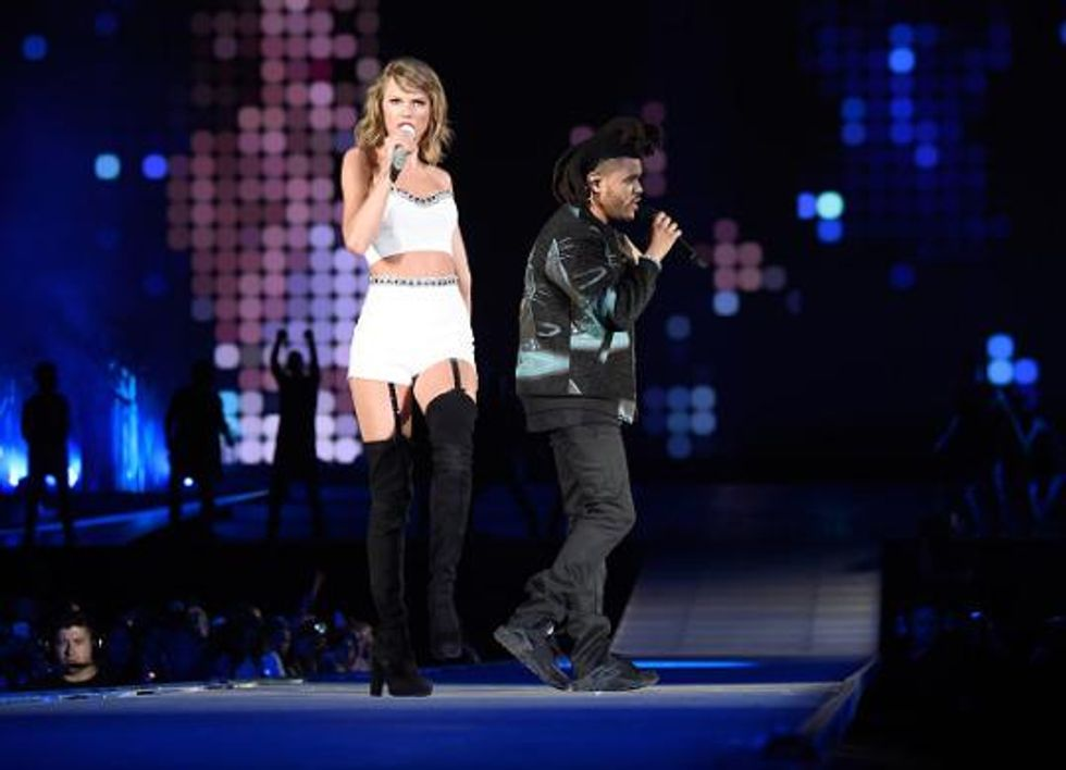 A Few of Taylor Swift's Most Questionable PR Moves, from Petting the Weeknd to Her #SQUAD