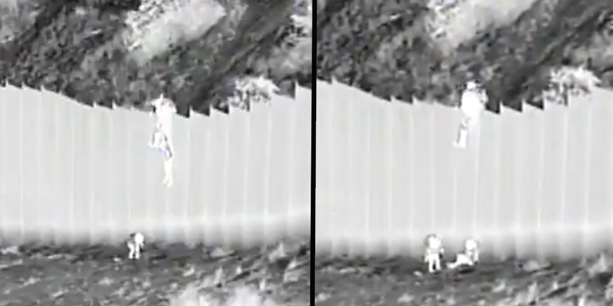 Coyotes Filmed Dropping Kids Aged 3 and 5 Over 14ft Border Wall
