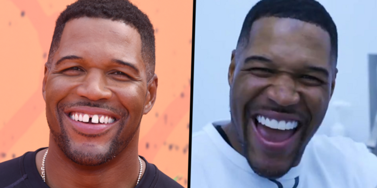 Michael Strahan Reveals He Didn't Actually Close His Tooth Gap and That it Was April Fools