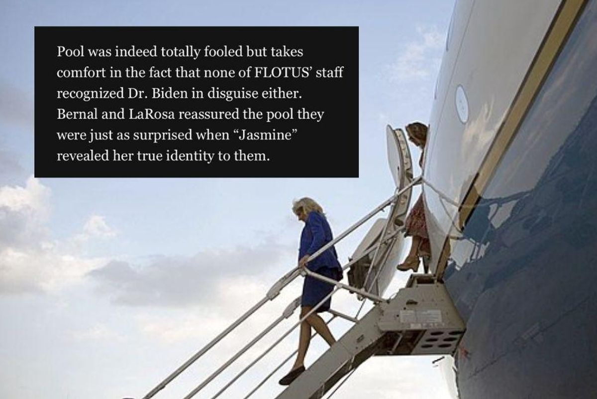 Jill Biden successfully fooled the media and her own staff on an April Fool's Day flight