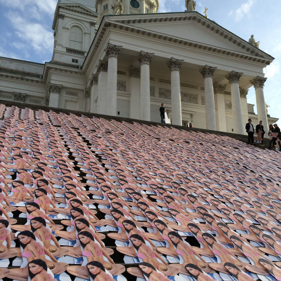 This Is An Alert: 1,000 Nicki Minaj Cut-Outs Have Invaded Helsinki