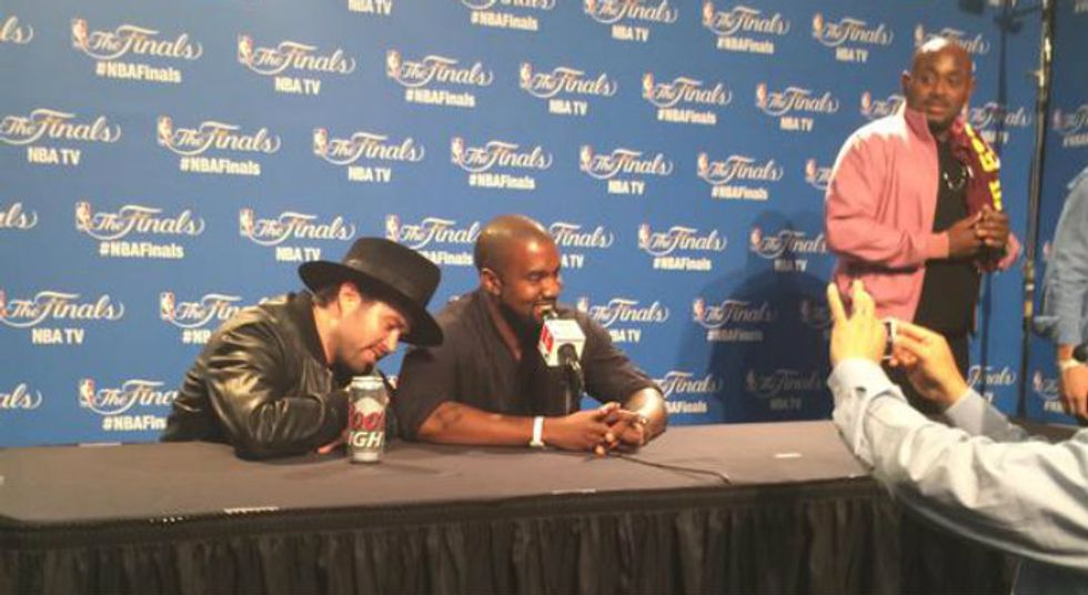 Kanye Gave a Post-Game Interview at the NBA Finals