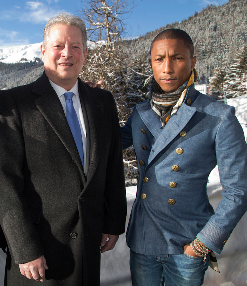 """""""'Happy' is a Revolutionary Song"""": Al Gore and Pharrell Talk Music, Optimism and Live Earth 2015"""