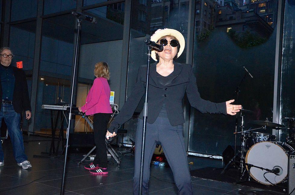 Scenes from Yoko Ono's Sunrise Performance at MoMA