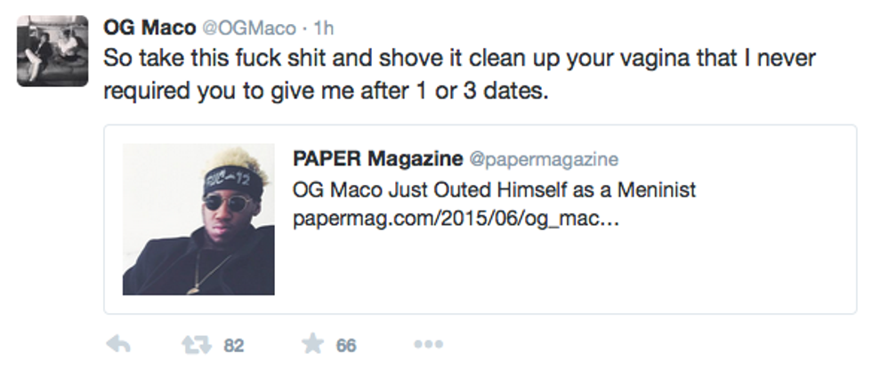 Updated: Did You Guess It? OG Maco Just Outed Himself as a Meninist
