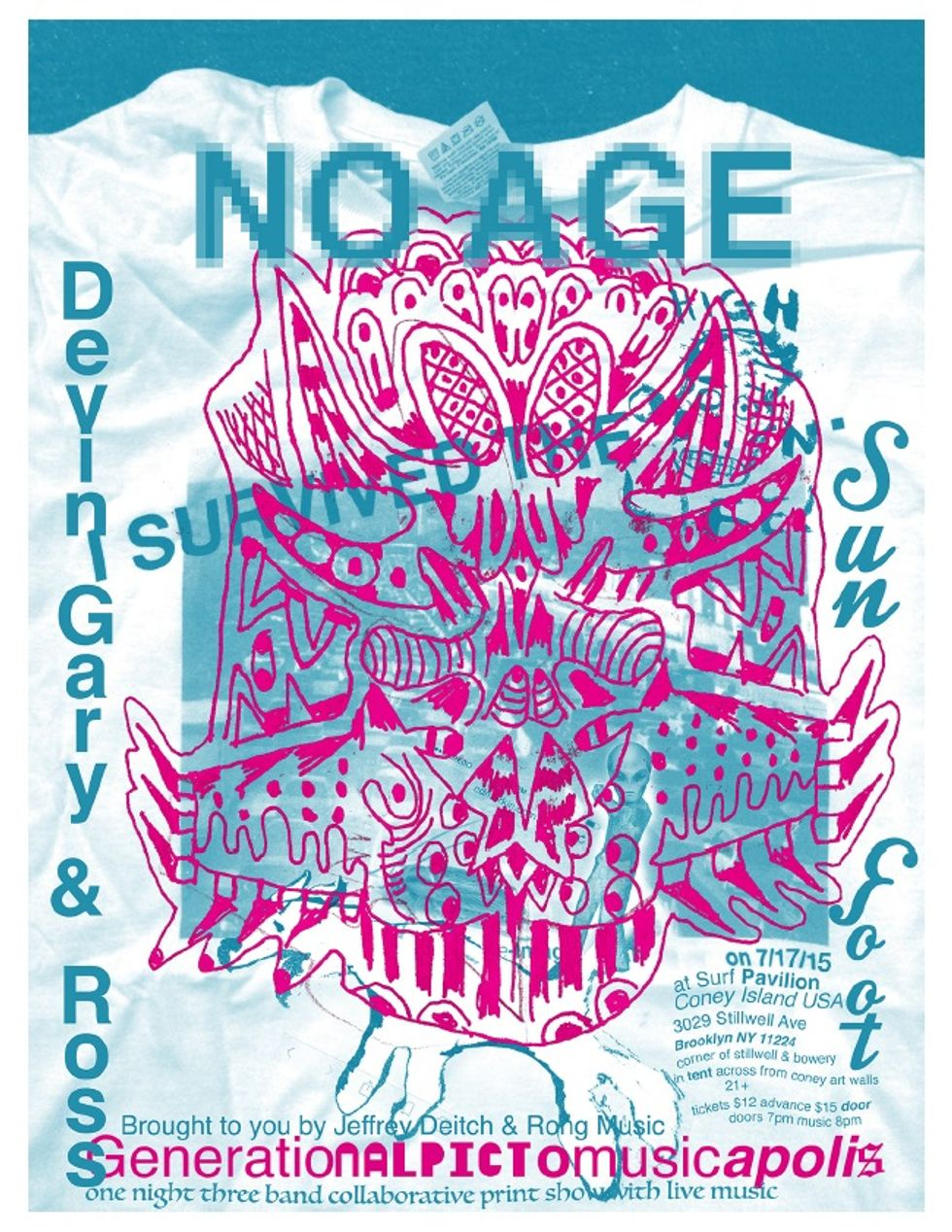Get Some Art and Music From Chris Johanson and No Age at Coney Island