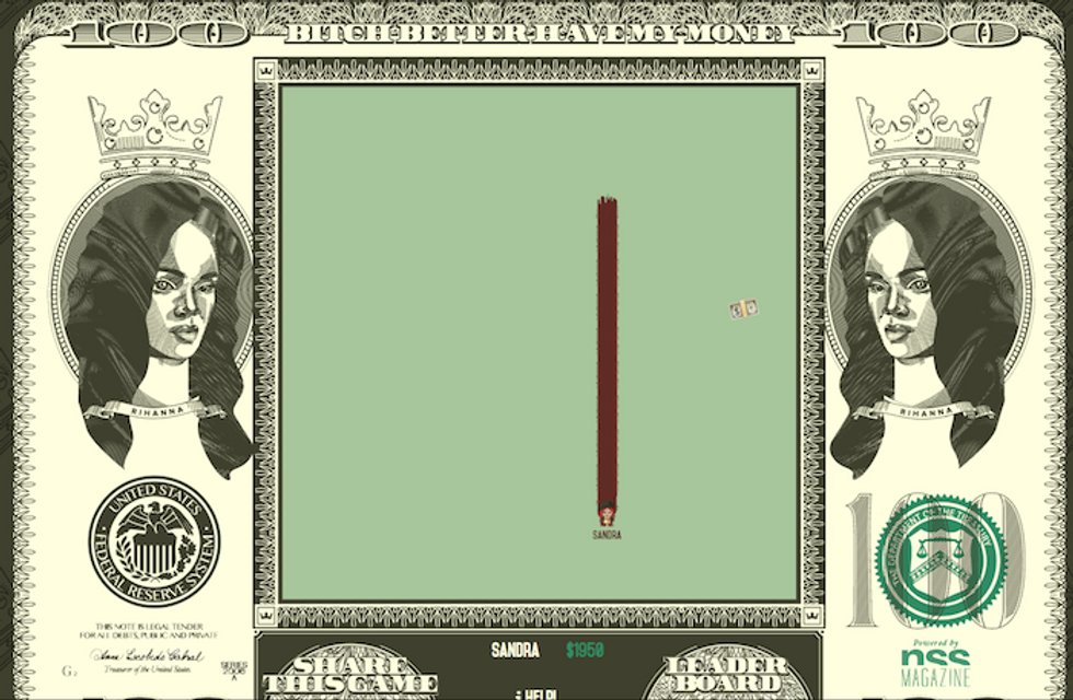 Bitch Better Have My Money: Play a Rihanna-Themed Game of Snake