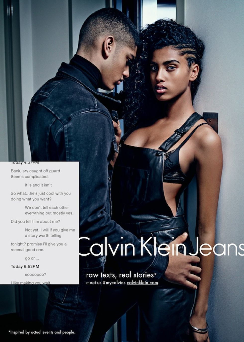 Calvin Klein's New Sexting Ads Were Made Just for Generation Tinder