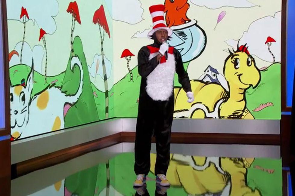 "Watch Tyler, the Creator Rap the ""New"" Dr. Seuss Book"