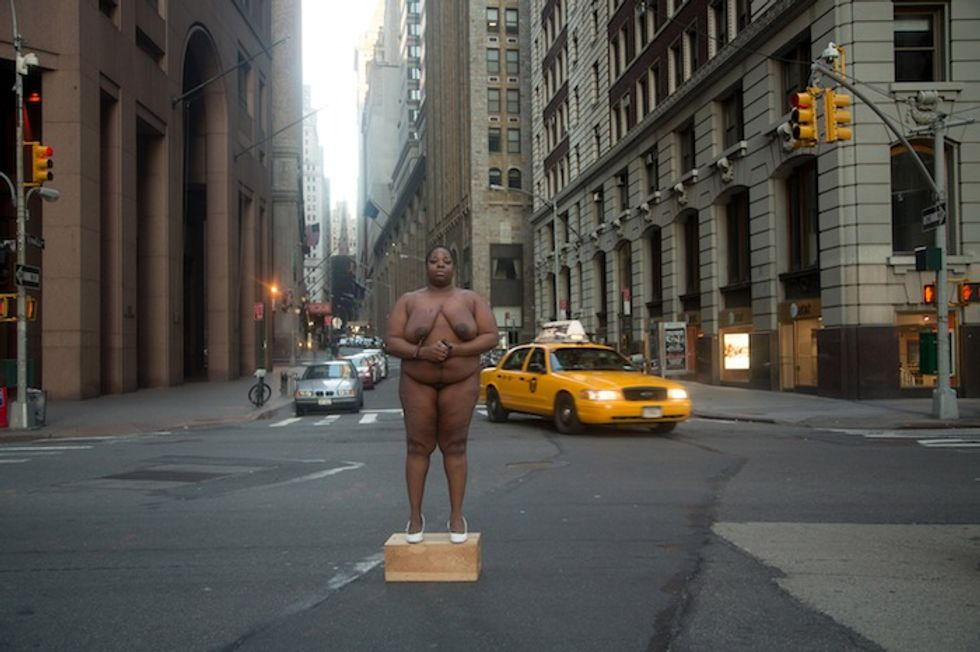 Artist Nona Faustine Shoots Nude Self-Portraits At Former Slave Sites In NYC