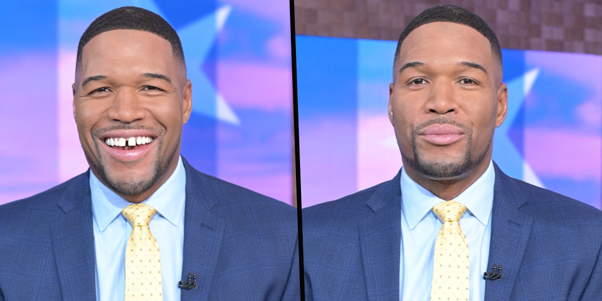 Michael Strahan Shocks 'Good Morning America' Viewers by Saying 'Goodbye Gap' in His Teeth