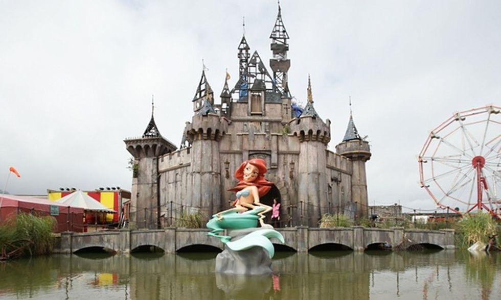 UPDATED: Anti-Capitalist Millionaire Artist Banksy Creates A Dystopian Disneyland