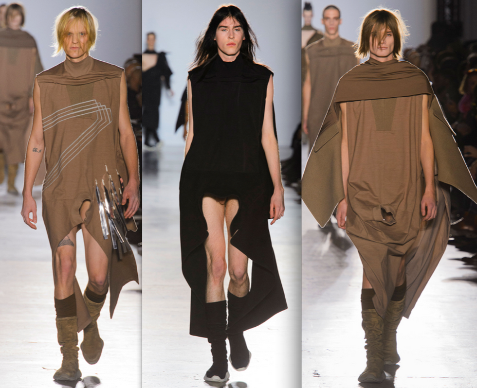 Rick Owens Addresses Male Body-Shaming, Explains His Penis Peek Garments