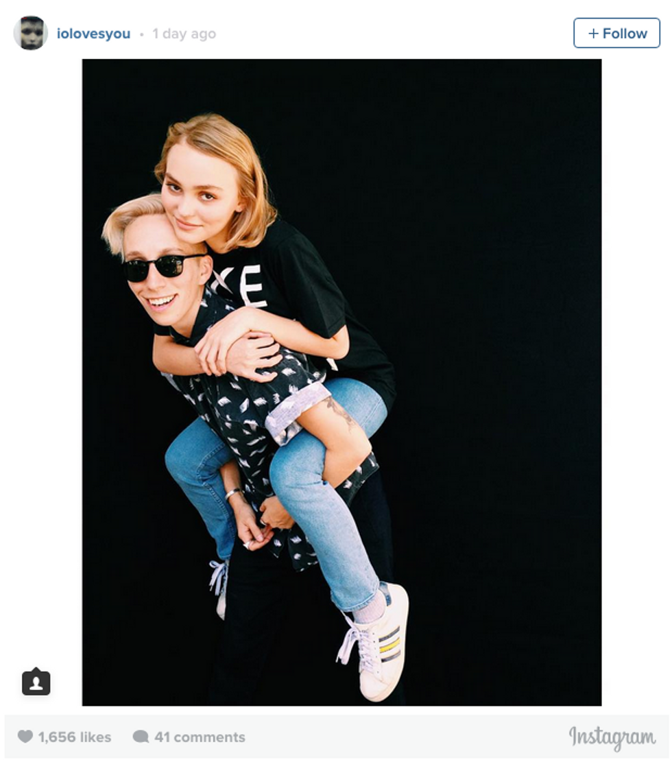 Lily-Rose Depp Low-Key Came Out As Not 100% Straight