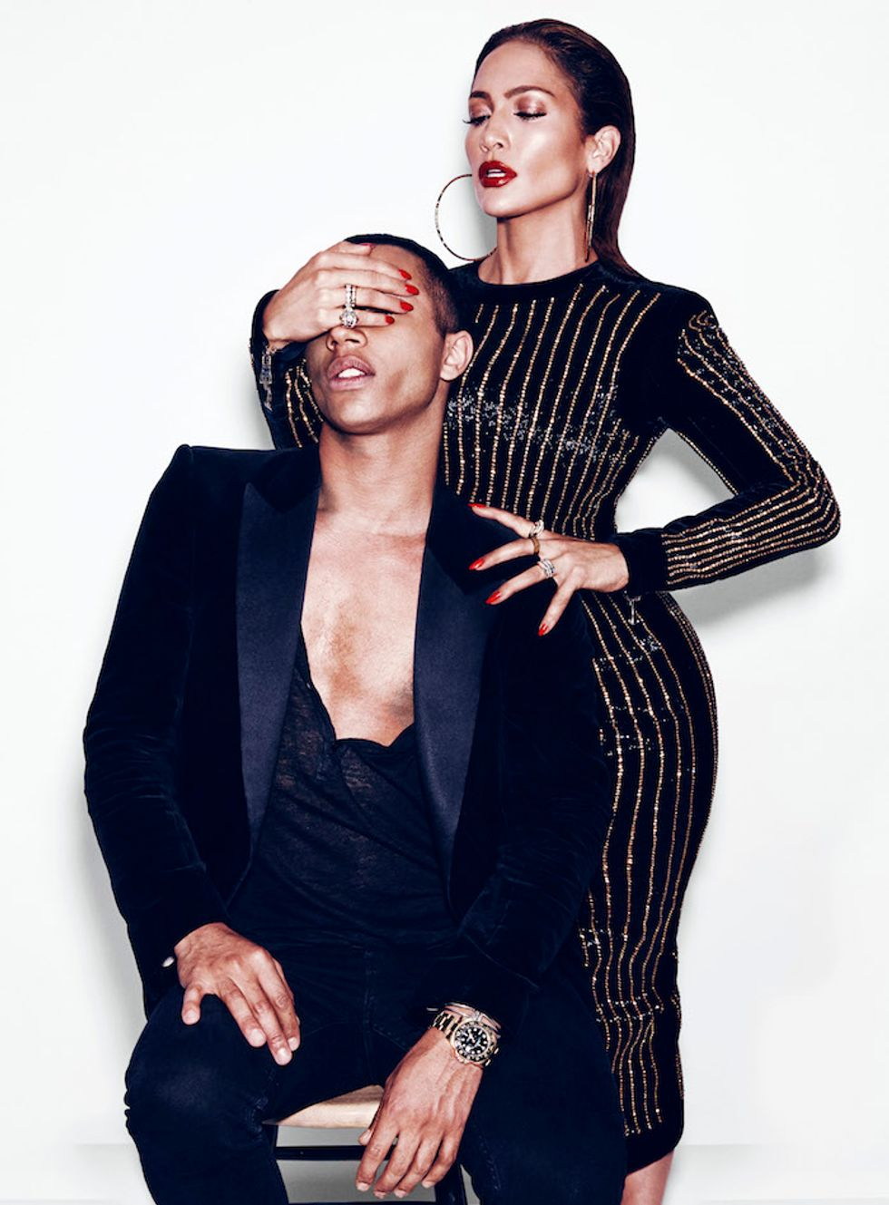 J.Lo and Balmain's Olivier Rousteing On Luxury, Race and Feminism
