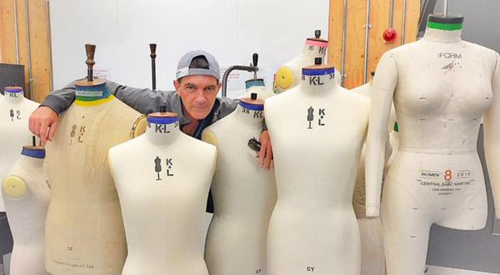 Antonio Banderas Is Now Studying Fashion Design At Central St. Martins