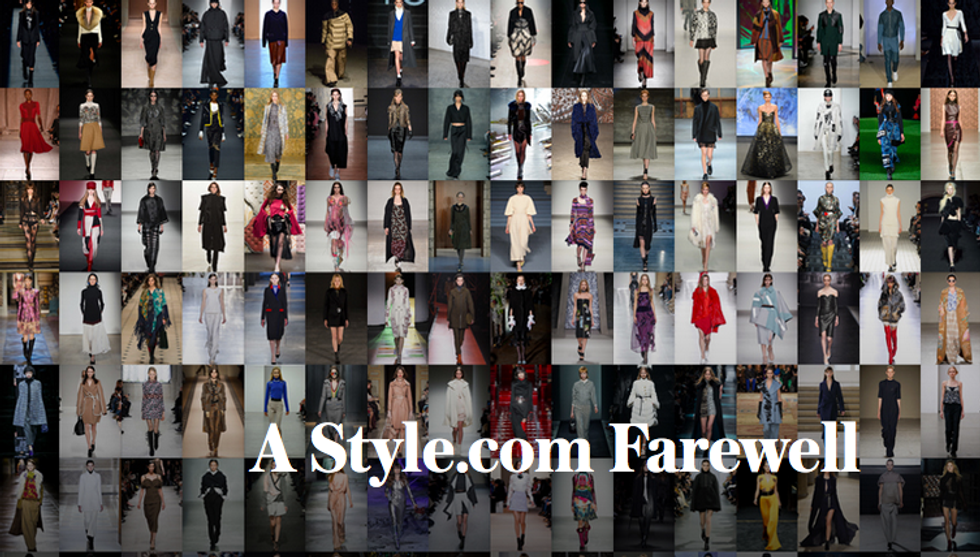 Goodbye to Style.com as We Know It