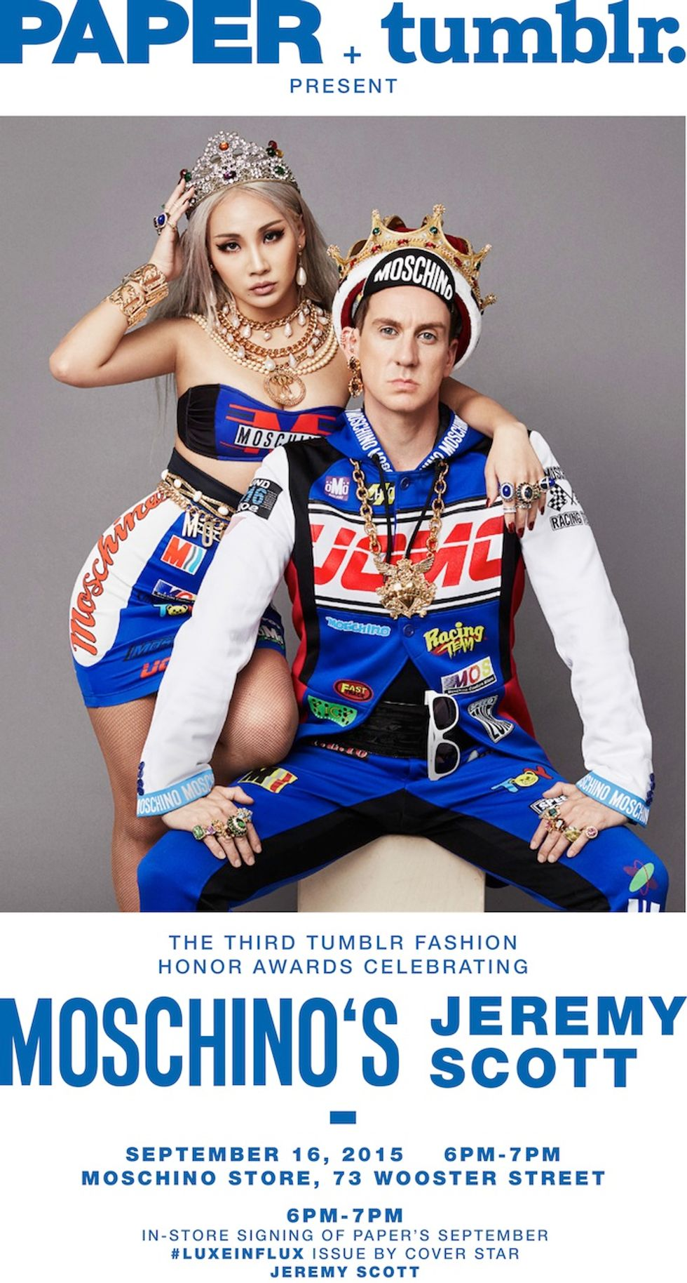 Paper X Tumblr Present a #NYFW Bash With Jeremy Scott at the Moschino Flagship!