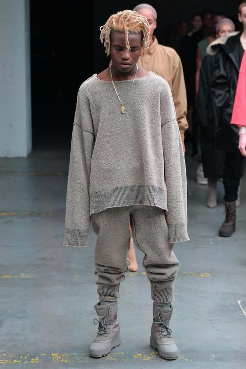 Internet Style Icon Ian Connor Modeled/Smoked In The Yeezy Season 2 Show