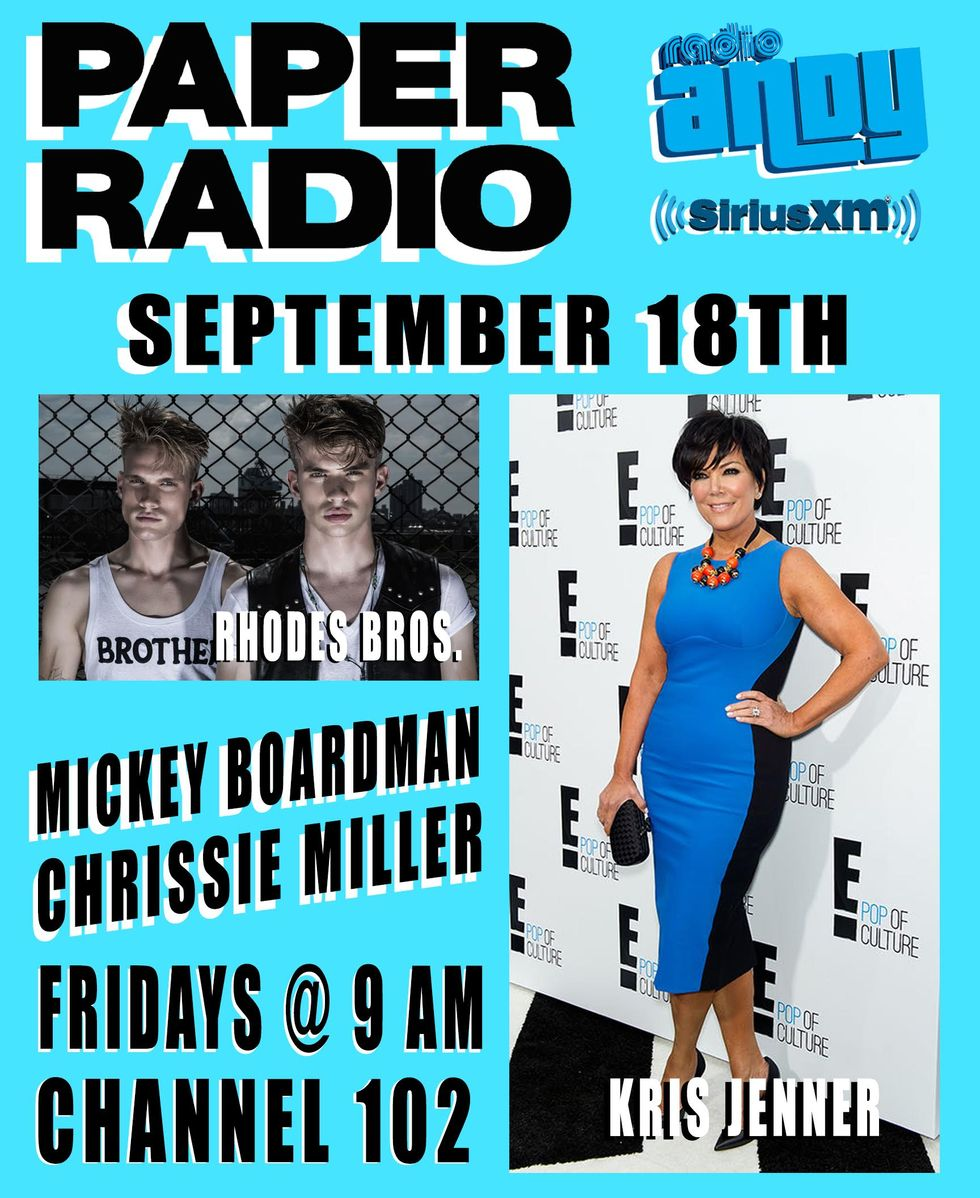 Kris Jenner and The Rhodes Bros Kick Off PAPER Radio on 9/18!