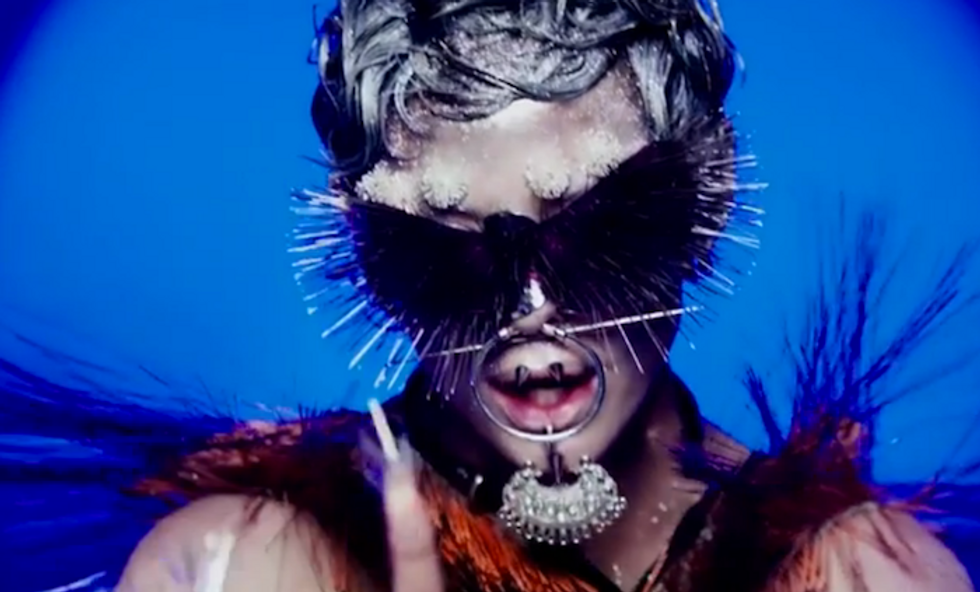 """Rose McGowan Makes Her Musical Debut With The Otherworldly Video For """"RM486"""""""