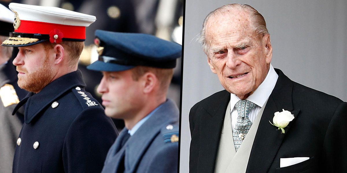 Princes William and Harry Will 'Stand Shoulder to Shoulder' for Philip's Funeral Walk