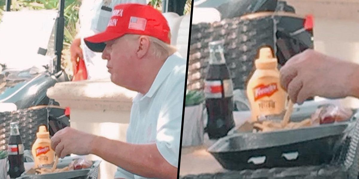 Donald Trump Spotted With Another Coke Bottle Despite Him Calling For Coca-Cola Boycott