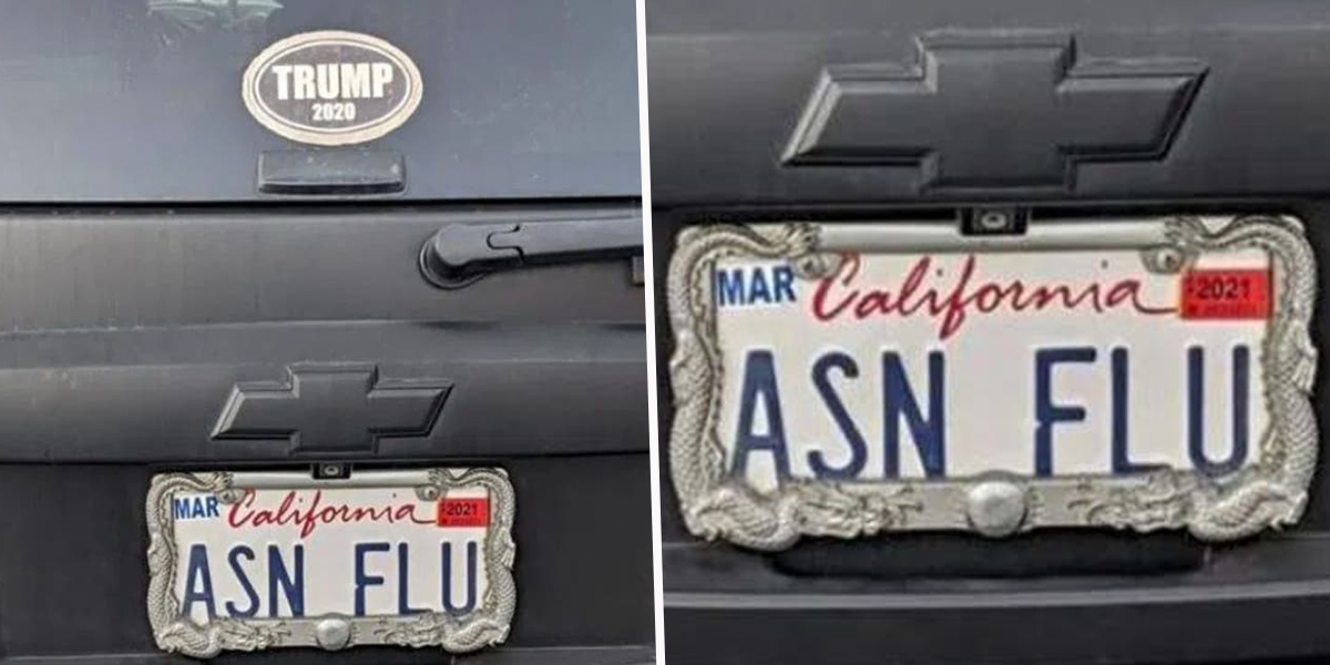 California SUV With 'ASN FLU' License Plate Sparks Outrage