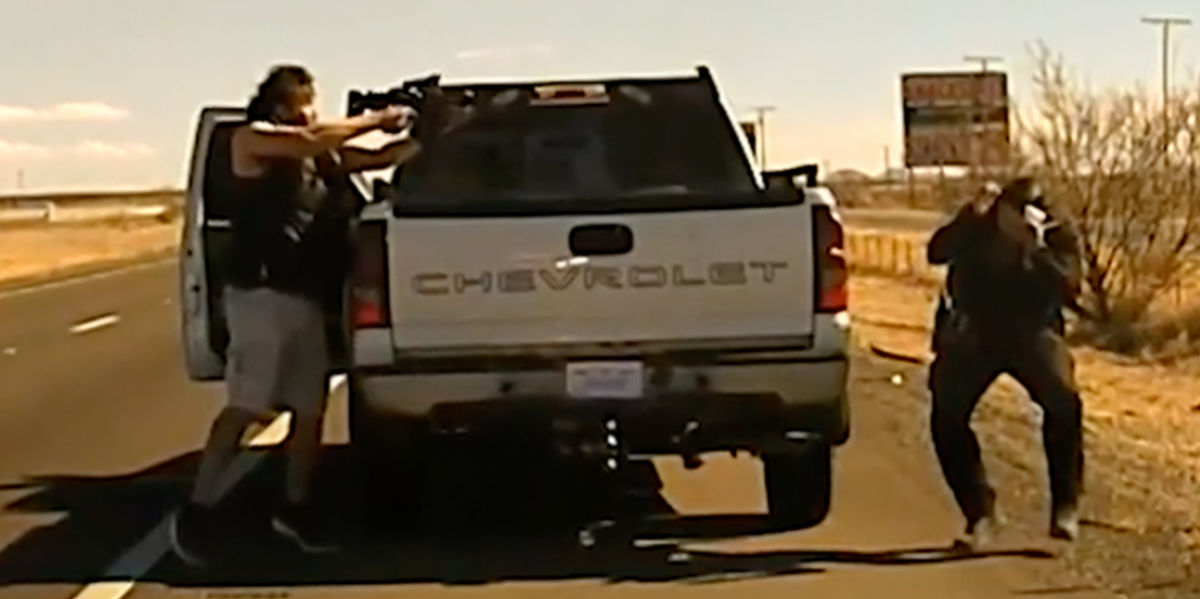Dashcam Shows New Mexico Cop Killed by Drug Dealer With Assault Rifle