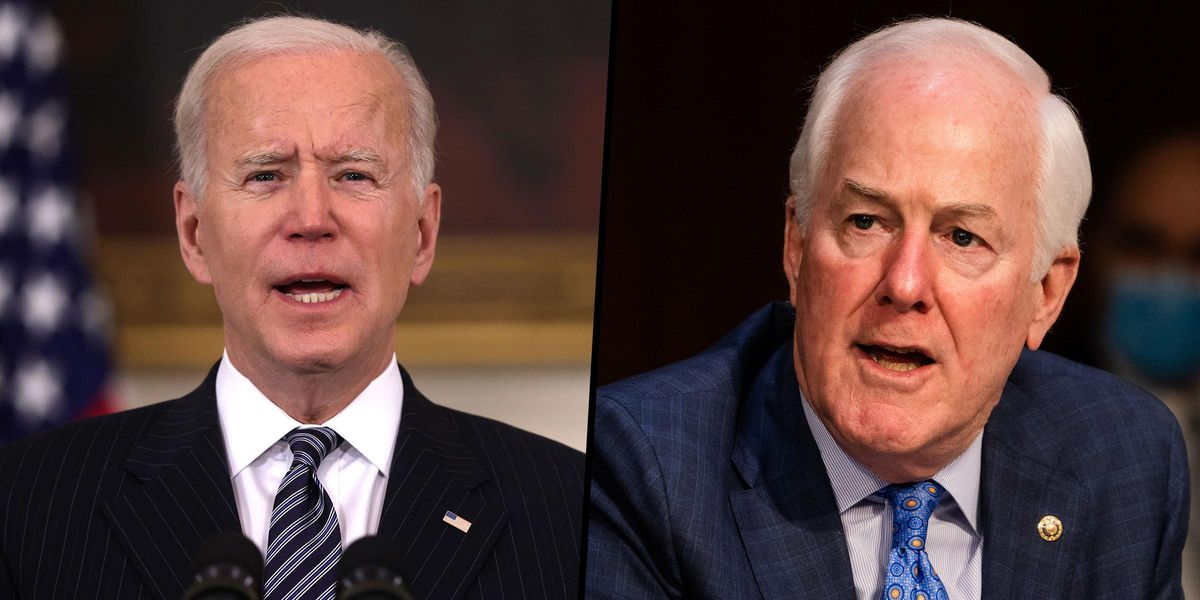 John Cornyn Asks If Biden Is 'Really in Charge' Because He Doesn't Tweet a Lot