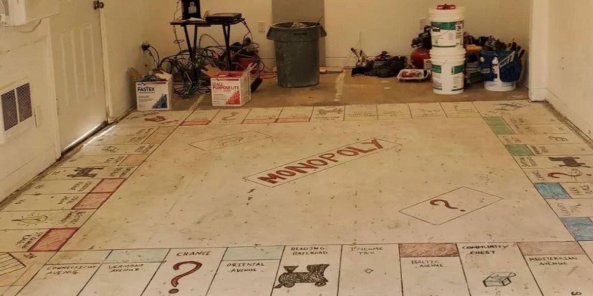 Homeowners Rip up Old Carpet and Find Giant Monopoly Board Painted Underneath