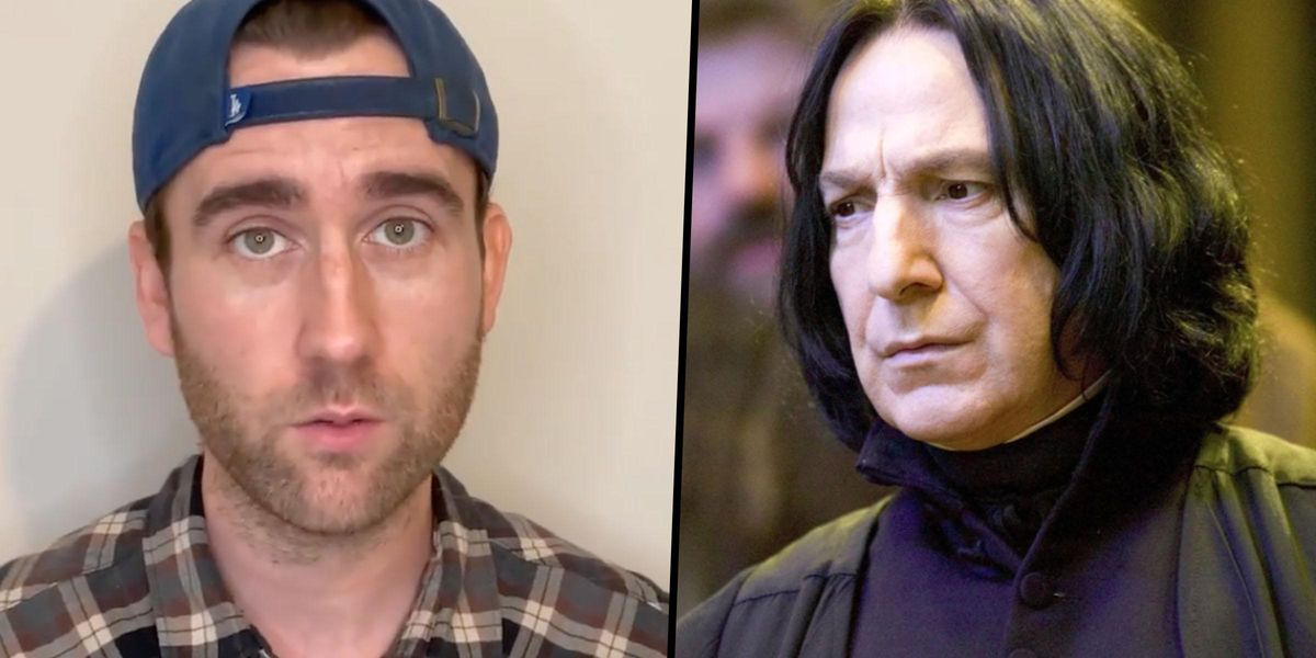 Matthew Lewis Says Alan Rickman Took Him Aside to Give Him Career Advice on Last Day of 'Harry Potter'