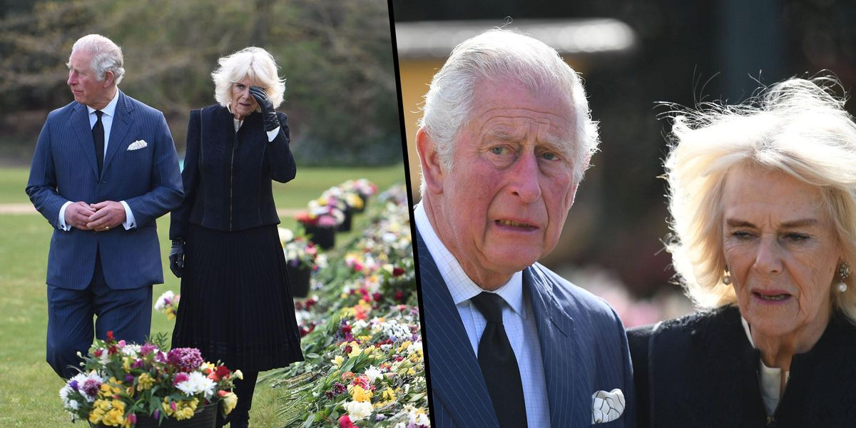 Prince Charles and Camilla Moved to Tears as They See Flowers Laid Down for Prince Philip