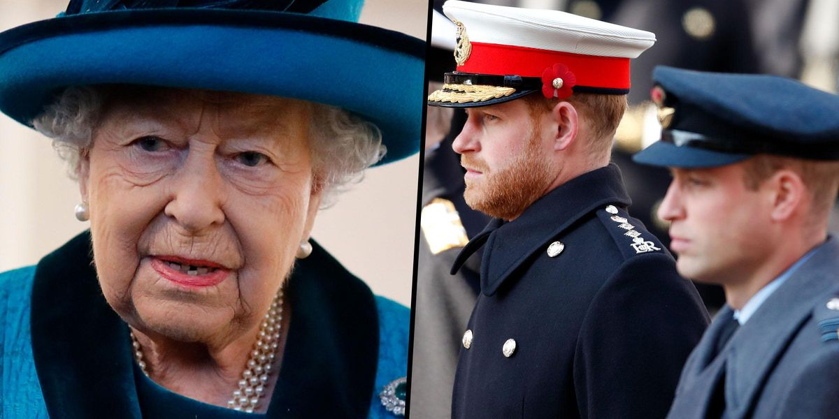 Queen Orders William and Harry To Be Separated At Prince Philip's Funeral