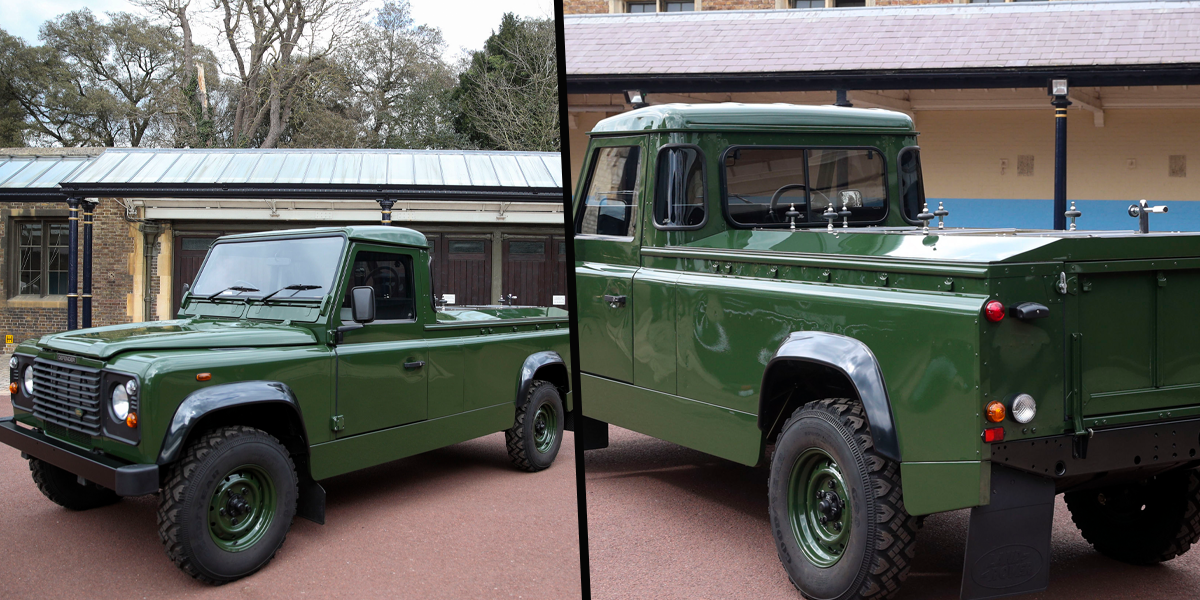Pictures Show First Look at Land Rover Hearse Prince Philip Designed Himself to Carry his Coffin
