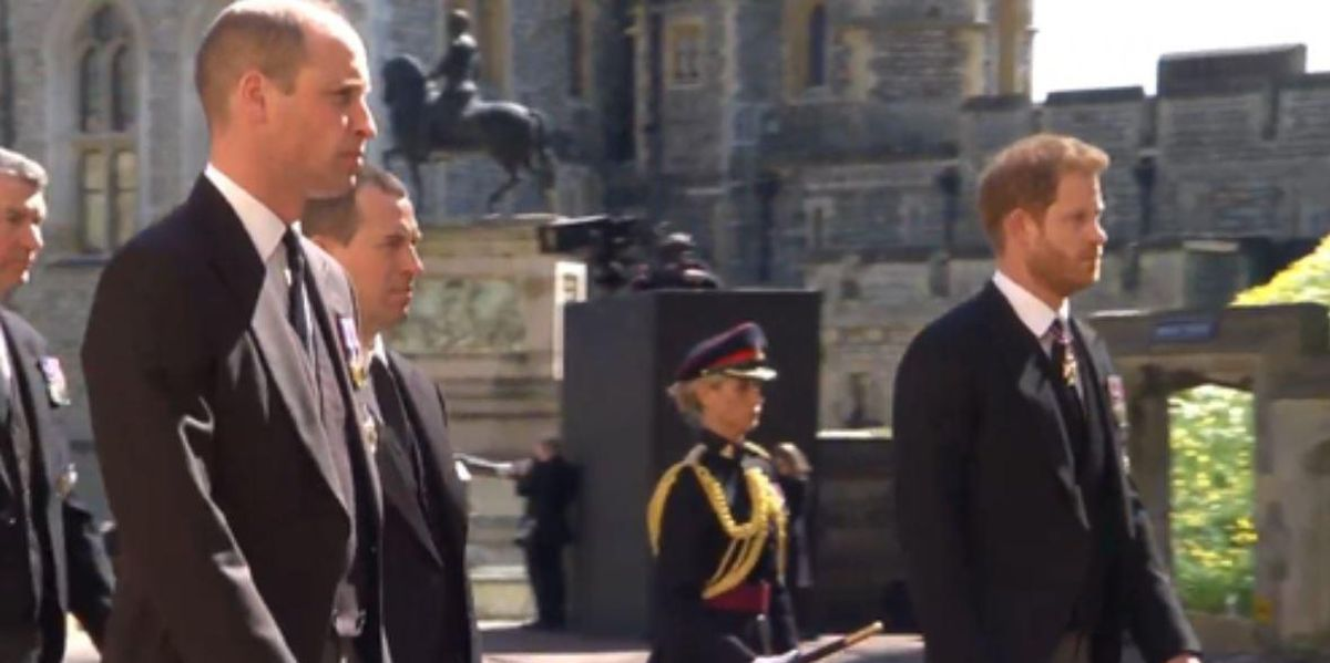 Prince Harry and William Reunited at Prince Philip's Funeral